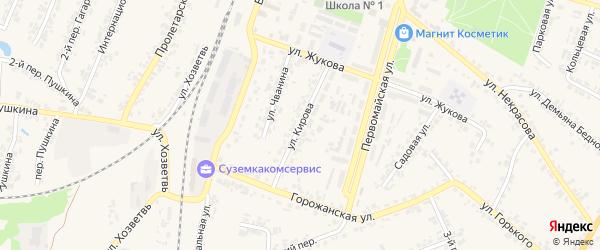 Улица Кирова на карте поселка Суземки с номерами домов