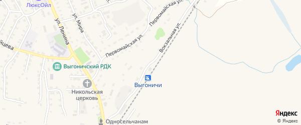Вокзальная улица на карте поселка Выгоничей с номерами домов