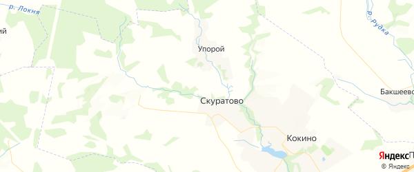 Карта территории Кокинского сельского поселения Брянской области с районами, улицами и номерами домов
