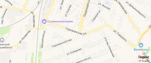 Горожанская улица на карте поселка Суземки с номерами домов
