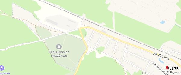 Переулок 2-й Лягина на карте Сельца с номерами домов
