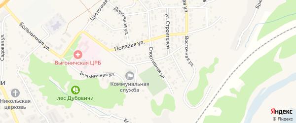 Улица Лермонтова на карте поселка Выгоничей с номерами домов