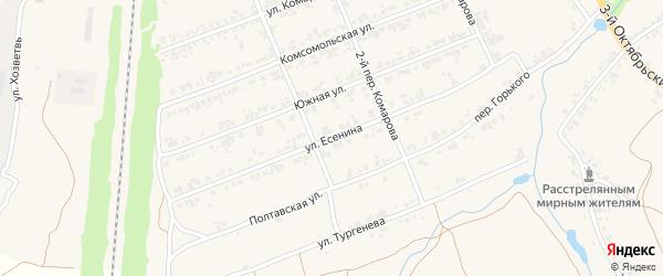 Улица Есенина на карте поселка Суземки с номерами домов