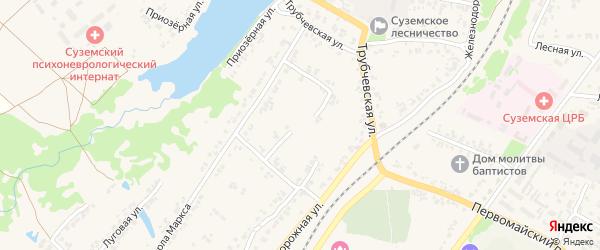 Переулок 3-й Карла Маркса на карте поселка Суземки с номерами домов