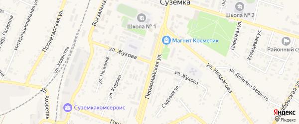 Улица Жукова на карте поселка Суземки с номерами домов