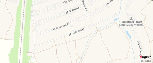 Улица Тургенева на карте поселка Суземки с номерами домов
