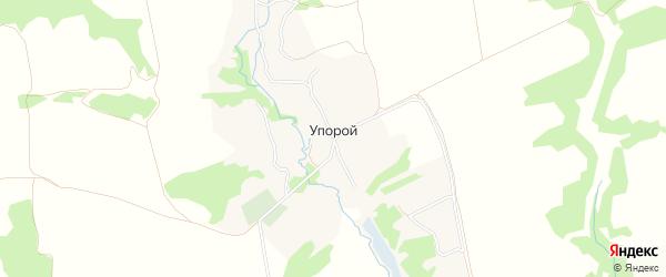 Карта села Упорого в Брянской области с улицами и номерами домов