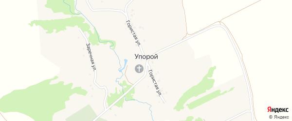 Гористая улица на карте села Упорого с номерами домов