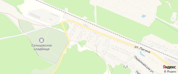 Проезд Лягина на карте Сельца с номерами домов
