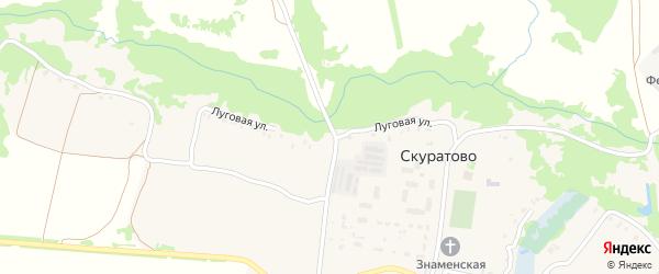 Луговая улица на карте села Скуратово с номерами домов
