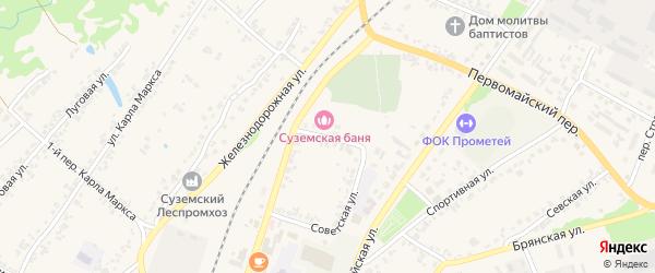 Советский переулок на карте поселка Суземки с номерами домов