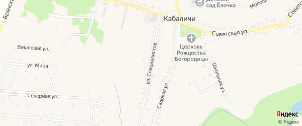 Улица Специалистов на карте села Кабаличи с номерами домов