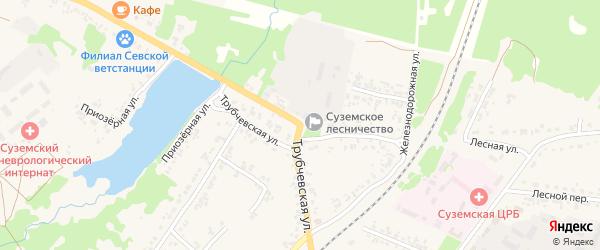 1-й Трубчевский переулок на карте поселка Суземки с номерами домов