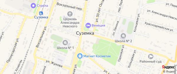 Площадь Ленина на карте поселка Суземки с номерами домов