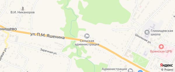 Территория Паи Нива на карте территории Глинищевского сельского поселения с номерами домов