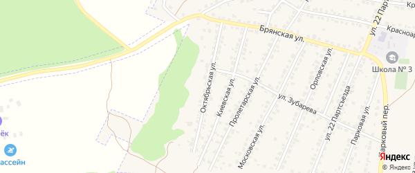 Октябрьская улица на карте Сельца с номерами домов