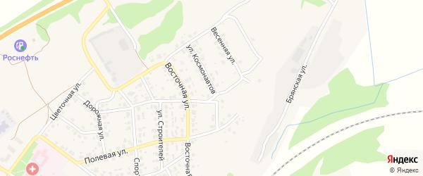 Улица Космонавтов на карте поселка Выгоничей с номерами домов