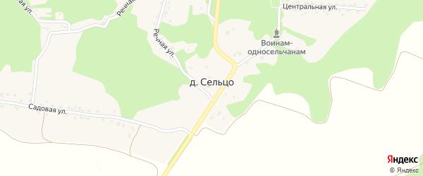 Никольская улица на карте деревни Сельца с номерами домов
