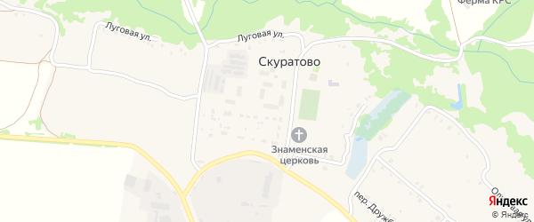 Молодежная улица на карте села Скуратово с номерами домов