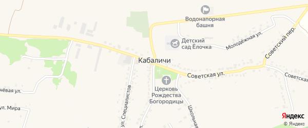 Южная улица на карте села Кабаличи с номерами домов