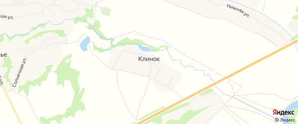 Карта деревни Клинка в Брянской области с улицами и номерами домов