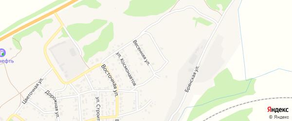 Весенняя улица на карте поселка Выгоничей с номерами домов