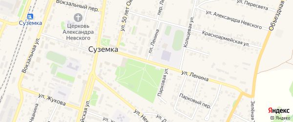 Улица Ленина на карте поселка Суземки с номерами домов