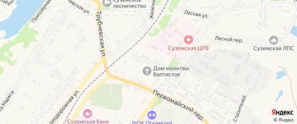 Улица Механизаторов на карте поселка Суземки с номерами домов