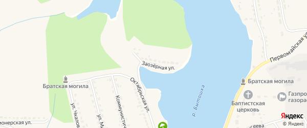 Заозерная улица на карте поселка Бытоши с номерами домов