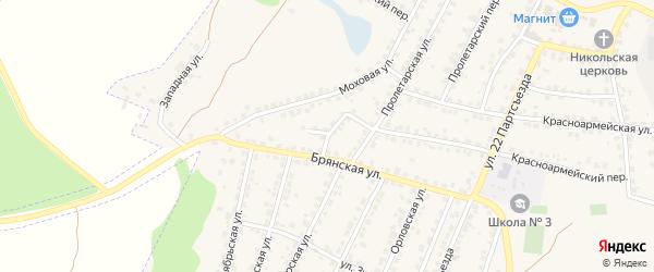 Брянский переулок на карте Сельца с номерами домов
