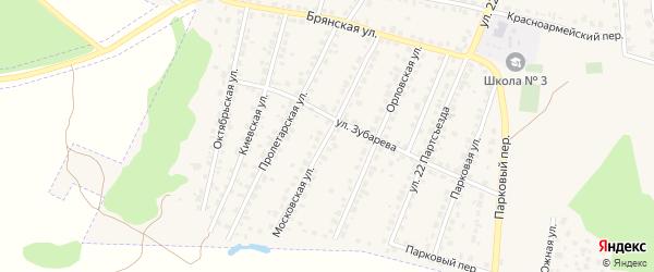 Московская улица на карте Сельца с номерами домов