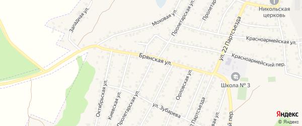 Пролетарская улица на карте Сельца с номерами домов