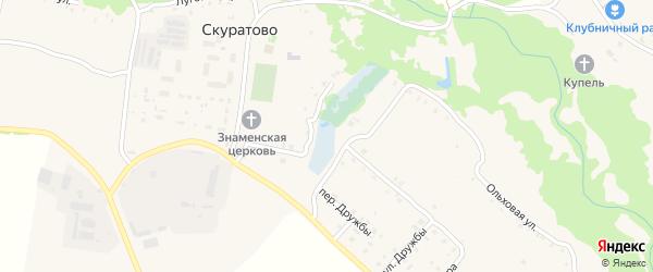Березовая улица на карте села Скуратово с номерами домов