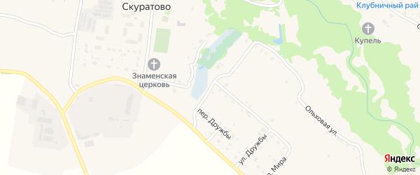 Счастливая улица на карте села Скуратово с номерами домов