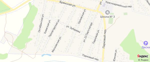 Орловская улица на карте Сельца с номерами домов