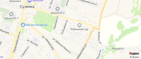 Улица Паши Лахмоткиной на карте поселка Суземки с номерами домов