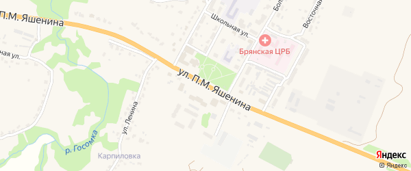 Санаторная улица на карте поселка Бело-Бережский санатория турбазы с номерами домов