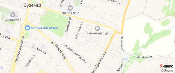 Парковый переулок на карте поселка Суземки с номерами домов