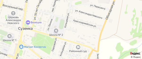 Красноармейский переулок на карте поселка Суземки с номерами домов
