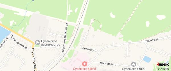 Улица Бережнова на карте поселка Суземки с номерами домов