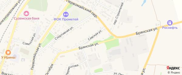 Севская улица на карте поселка Суземки с номерами домов