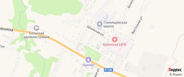 Клубная улица на карте села Глинищево с номерами домов