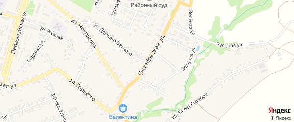 Октябрьская улица на карте поселка Суземки с номерами домов
