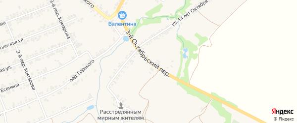 3-й Октябрьский переулок на карте поселка Суземки с номерами домов