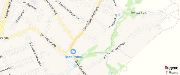 2-й Октябрьский переулок на карте поселка Суземки с номерами домов