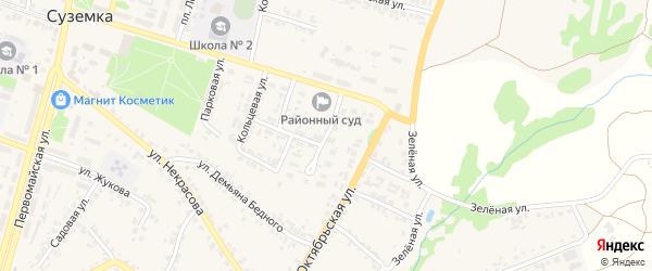 Совхозная улица на карте поселка Суземки с номерами домов