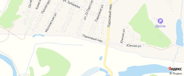 Парковый переулок на карте Сельца с номерами домов