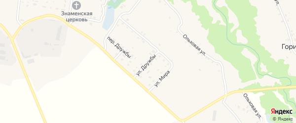 Улица Дружбы на карте села Скуратово с номерами домов