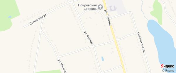 Улица Фрунзе на карте поселка Бытоши с номерами домов