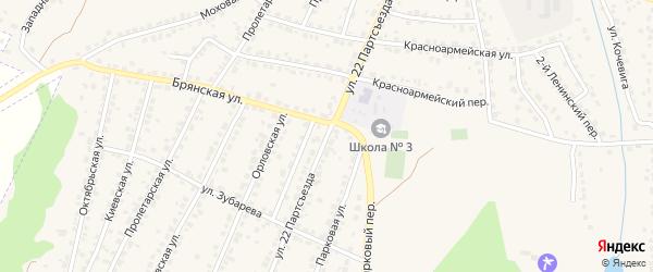 Улица 22 Партсъезда на карте Сельца с номерами домов